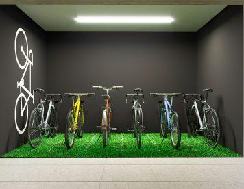 Estacionamiento bicicletas, Departamento San Isidro