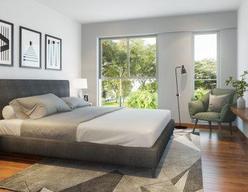 Dormitorio, departamentos Kasuari