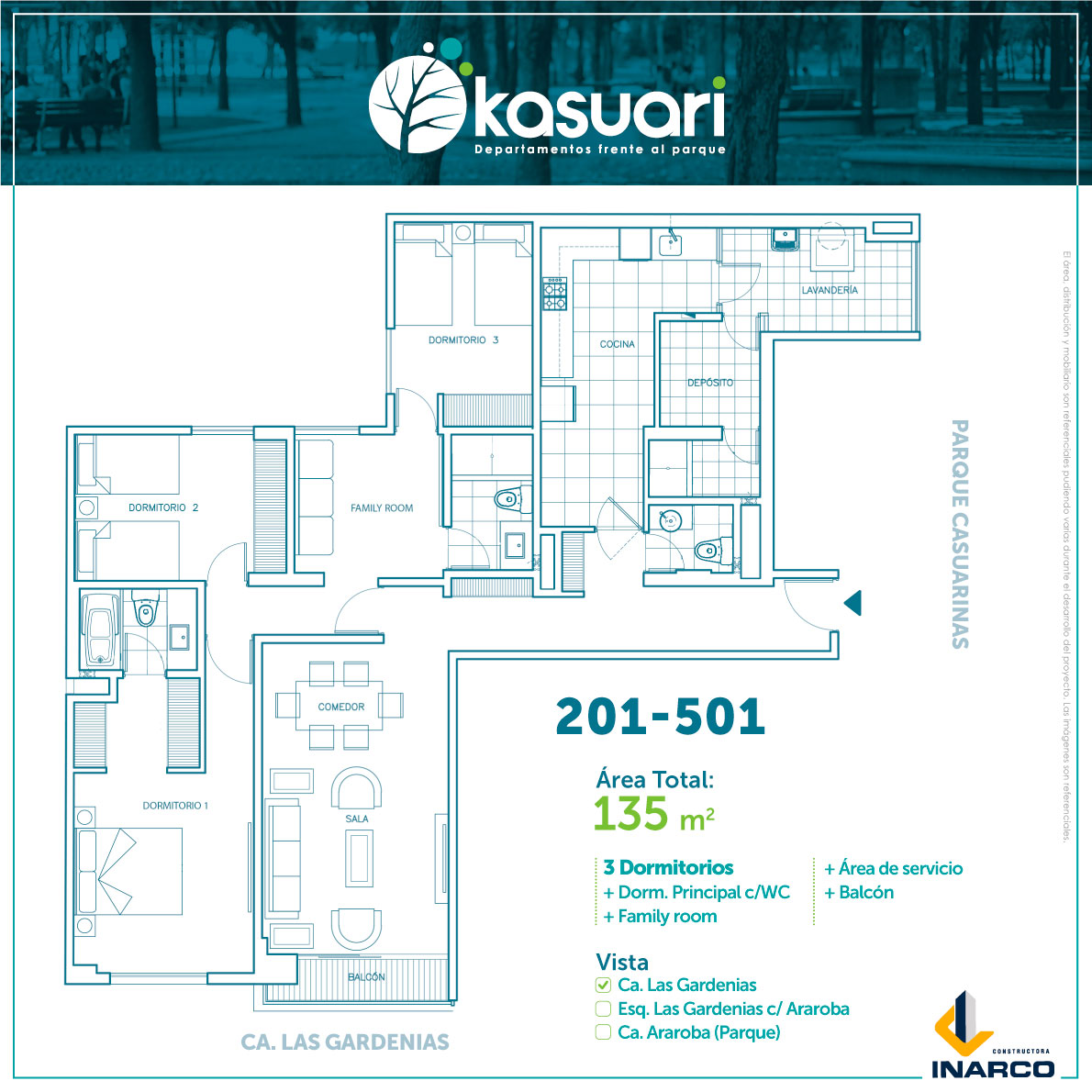 departamentos kasuari 201 al 501